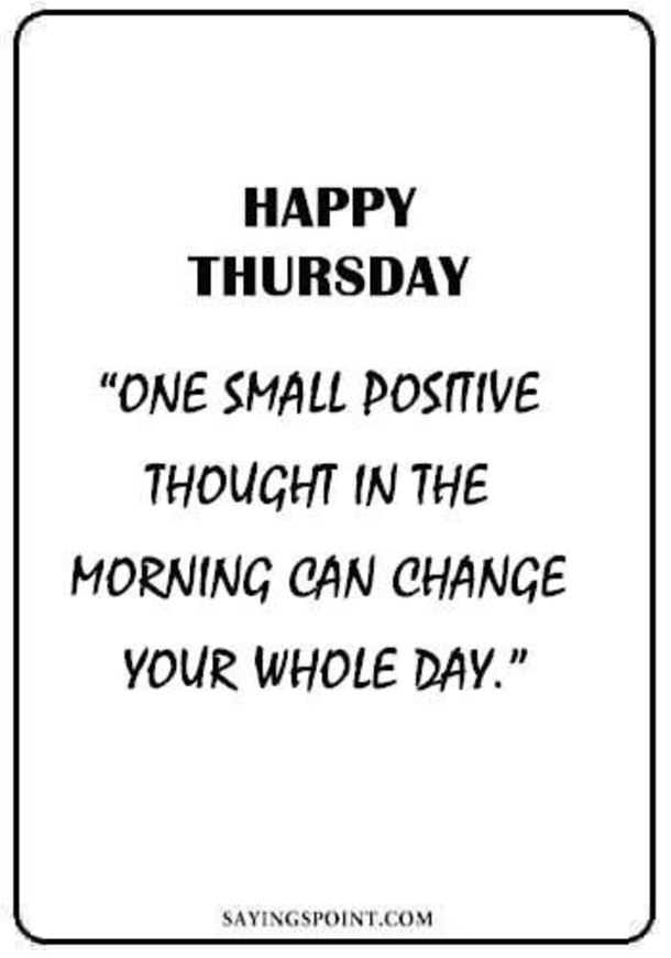 best thursday quotes sayings and wishes