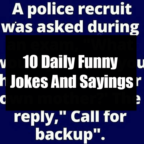 10 Daily Funny Jokes And Sayings