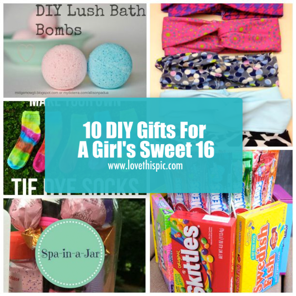 10 Diy Gifts For A Girl S Sweet 16