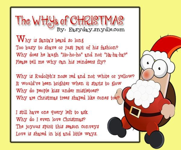 Poems About Christmas.10 Funny Christmas Poems To Enjoy