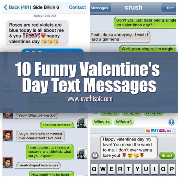 10 Funny Valentine's Day Text Messages