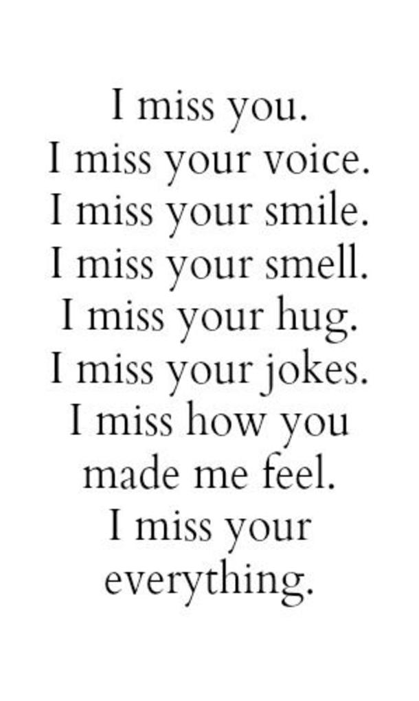 U him when miss 55 Emotional