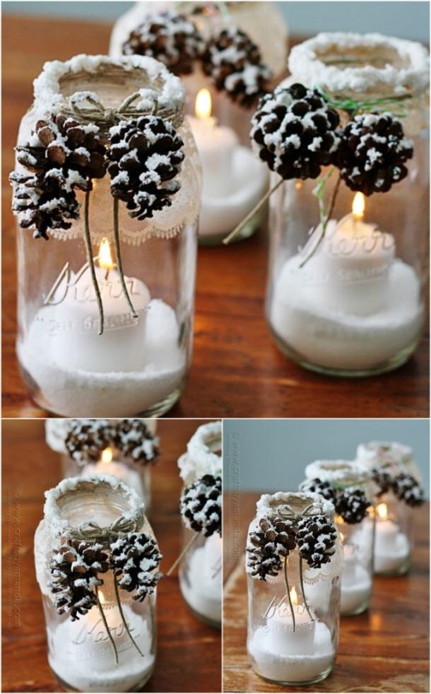 10 Mason Jar Christmas Crafts And Decor