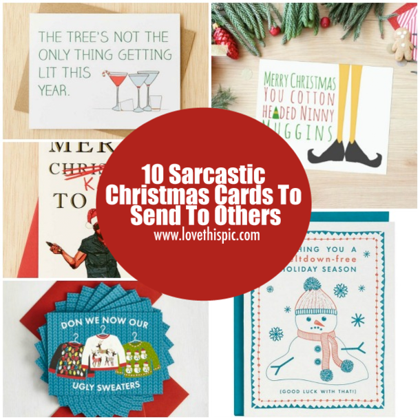 10 Sarcastic Christmas Cards To Send To Others