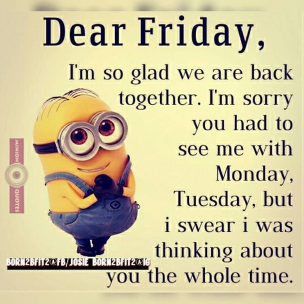 10 Silly And Funny Friday Minion Quotes