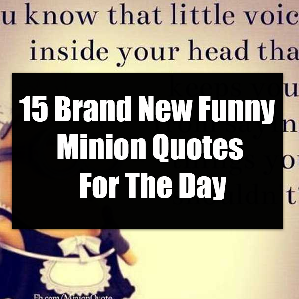 15 Brand New Funny Minion Quotes For The Day