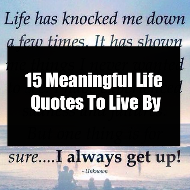15 Meaningful Life Quotes To Live By