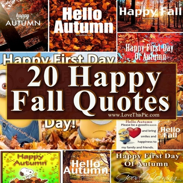20 Happy Fall Quotes