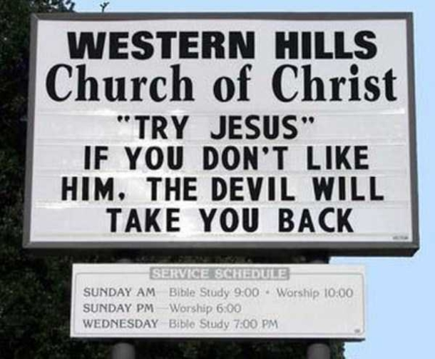 30 Funny Church Signs