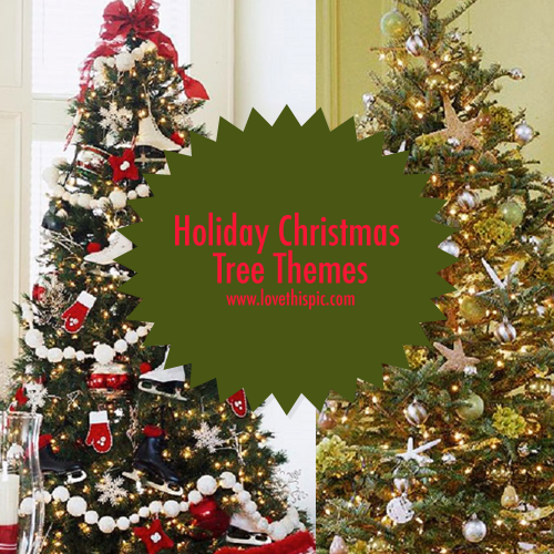 Christmas Tree Themes.Holiday Christmas Tree Themes