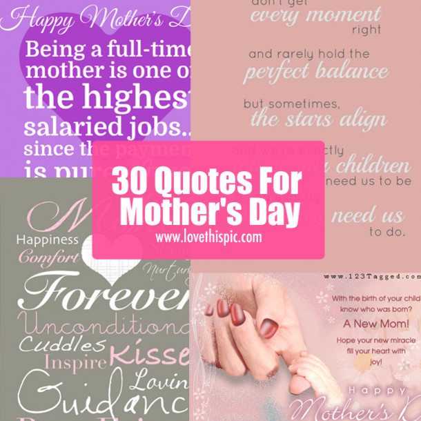 30 Quotes For Mother's Day
