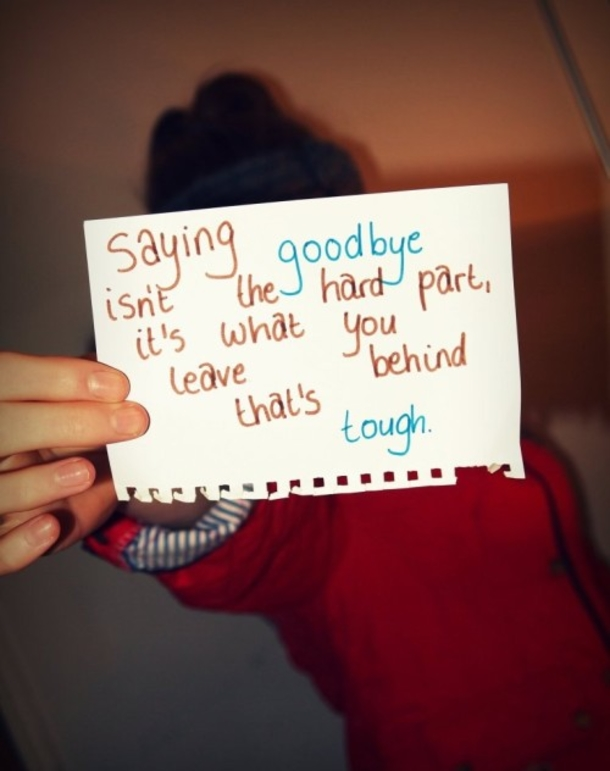 How to say goodbye to boyfriend  Knowing When to Say Goodbye