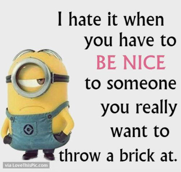 Image of: Jokes Facebook Twitter Pinterest Google The Wondrous 50 Hilariously Funny Minion Quotes With Attitude
