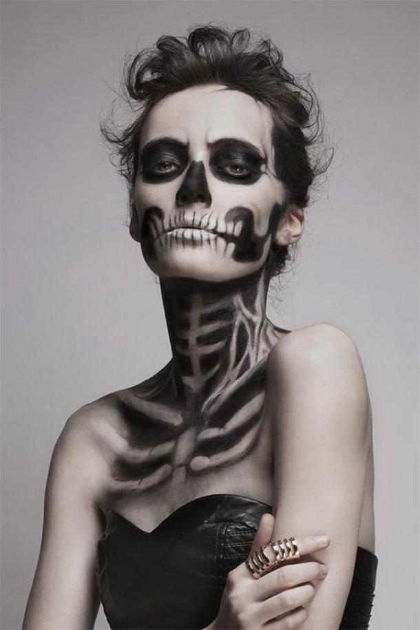 Creepy Scary Halloween Makeup.50 Scary Halloween Makeup Ideas