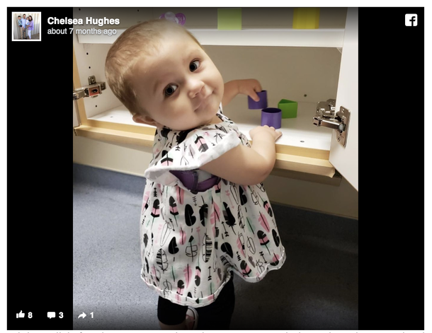 Adorable 2-year-old girl beats stage 4 cancer after 15