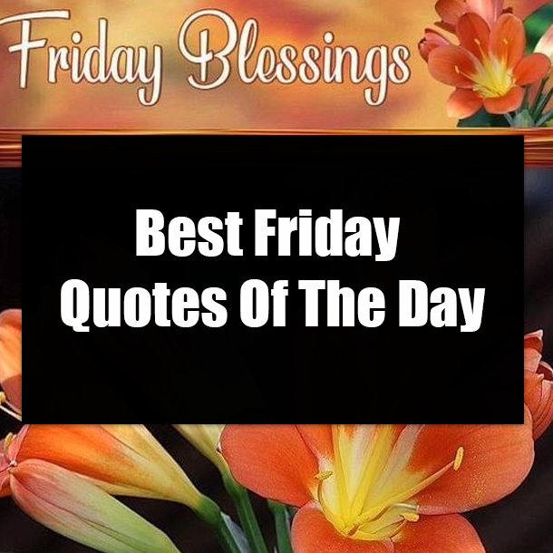 Best Friday Quotes Of The Day