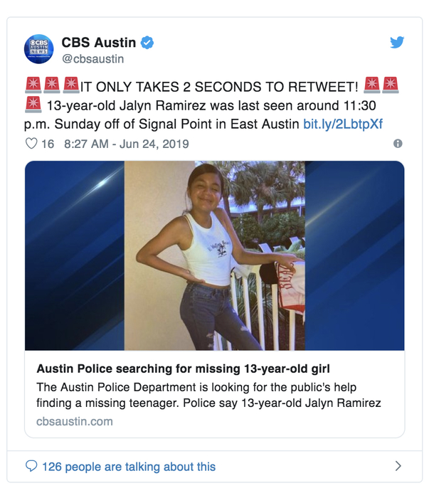 BREAKING: Cops Asking for Public's Help Locating Missing 13