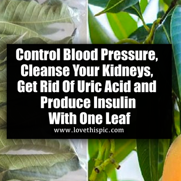 Control Blood Pressure, Cleanse Your Kidneys, Get Rid Of