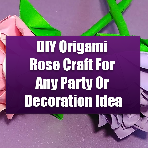 How to Make Fast & Easy Tiny Origami Rose (Strip Folding) - Snapguide | 610x610