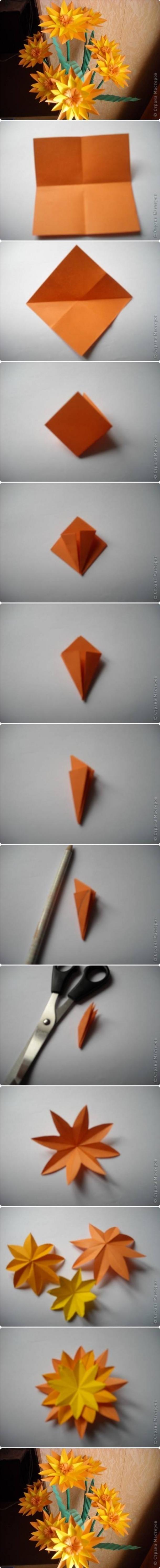 Diy Paper Marigold Flower