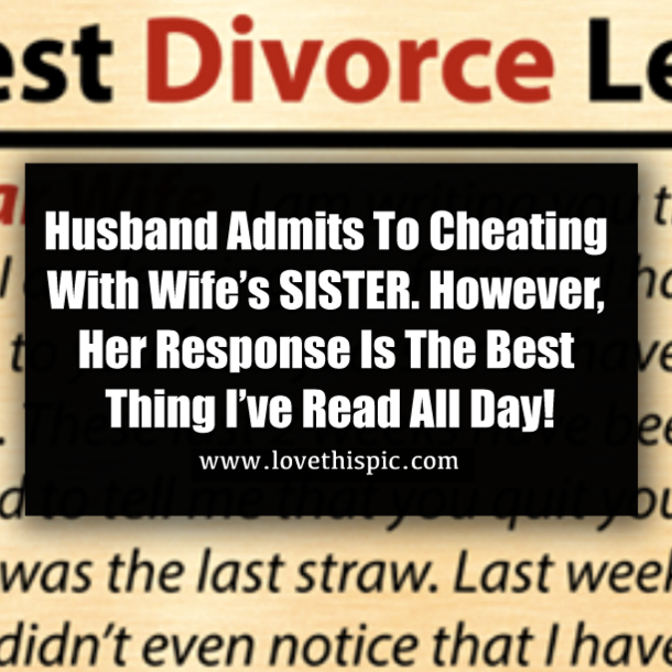 Husband Admits To Cheating With Wife's SISTER  However, Her