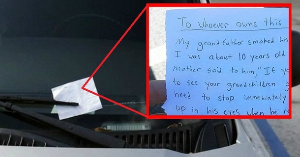 Man Finds Heartbreaking Note On Car Last Line Teaches Him Nasty Lesson