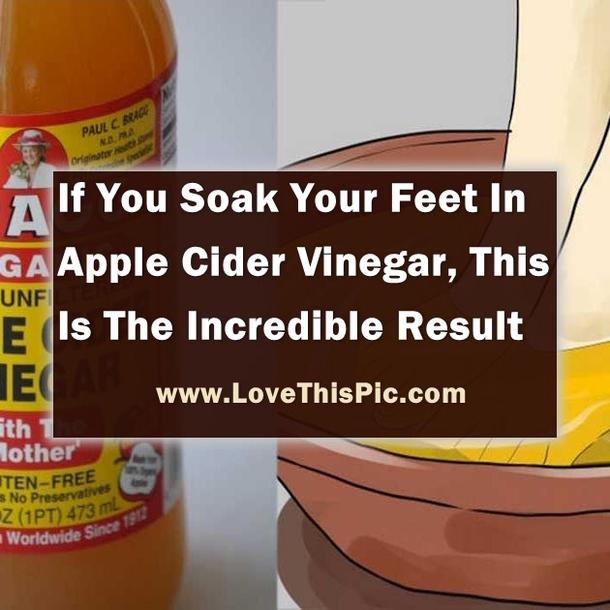 Soak Your Feet In Apple Cider Vinegar